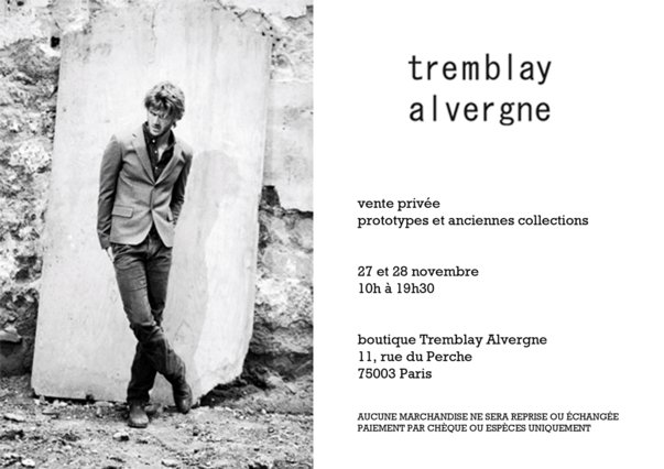 Invitation Vente Privee Tremblay Alvergne