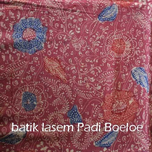 Batik Tulis Lasem Sekarjagad Merah Biru Putih varian 2 | Padie Boeloe