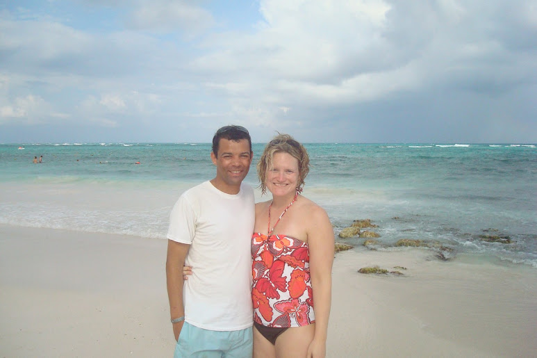 Katie and Kevin after some good snorkeling at the Riviera Maya, Mexico...March 2008