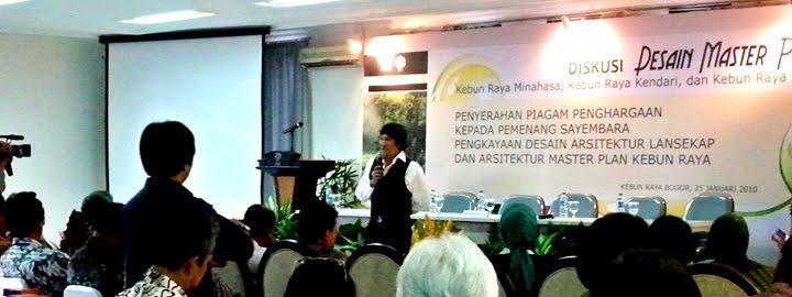 Ikang Fawzi Duta/Ilmuwan Kebun Raya 2010
