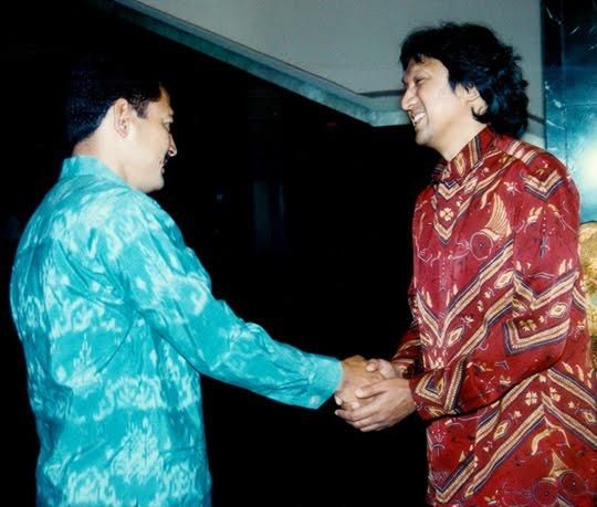 Ikang Fawzi di Bimantara bersama Bambang Trihatmojo Soeharto