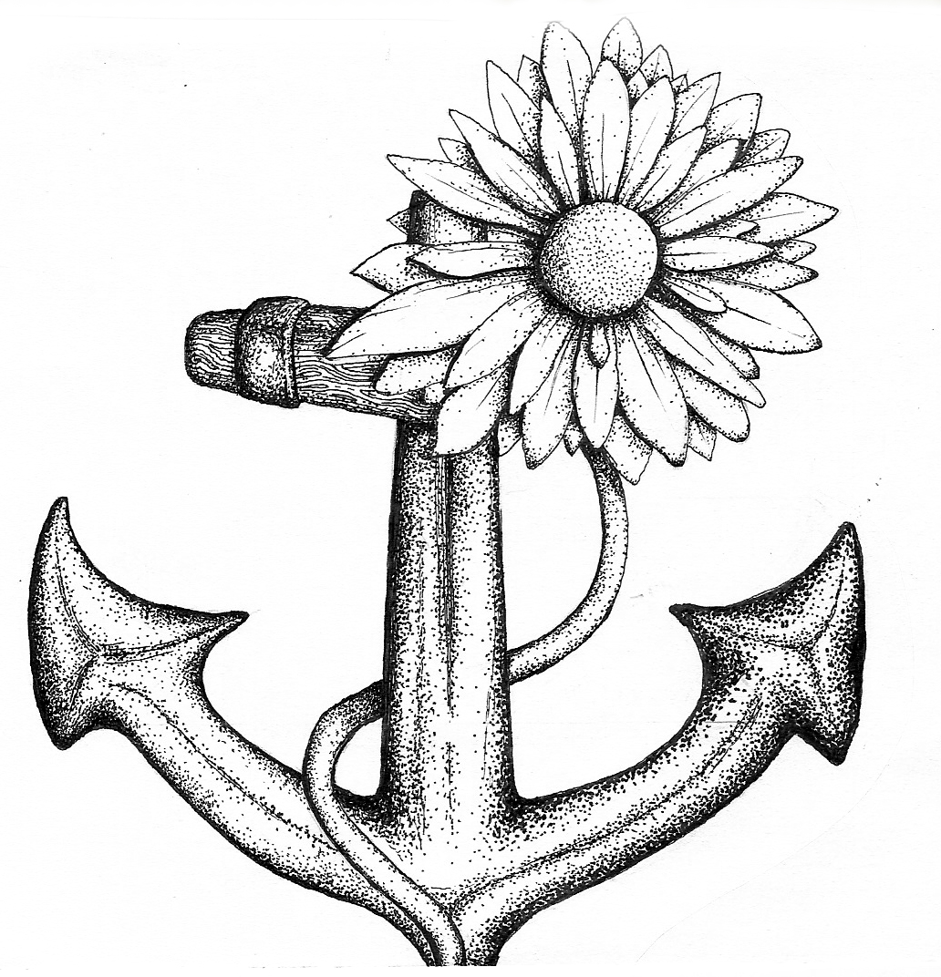 Anchor drawings with quotes quotesgram for Anchor coloring page