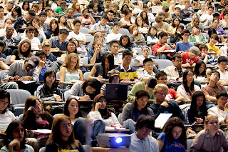 Picture of a college lecture hall