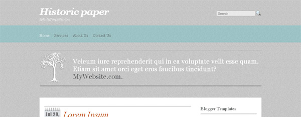 Historic Paper Blogger Template