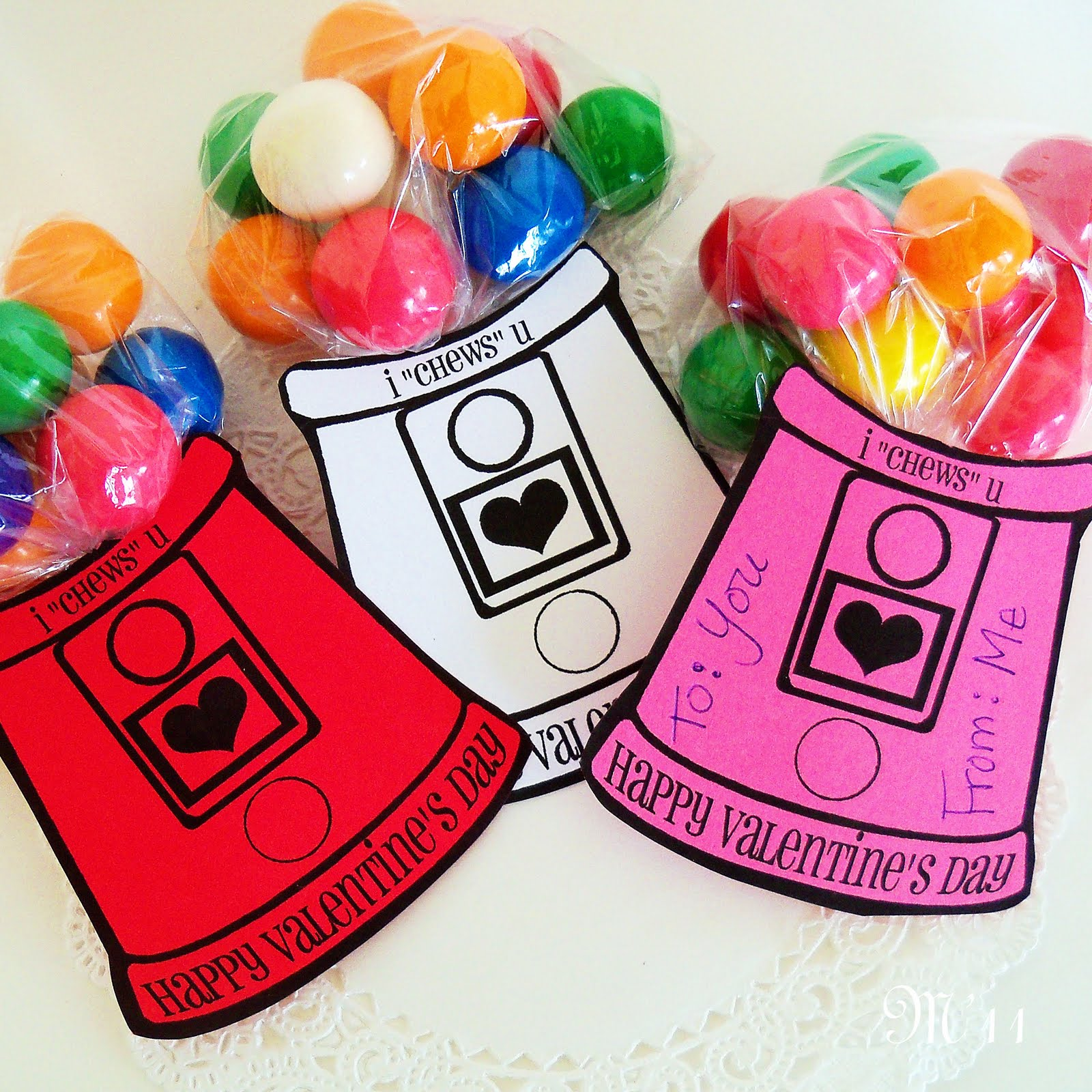 Living with threemoonbabies gumball machine valentines for Valentines day cute ideas