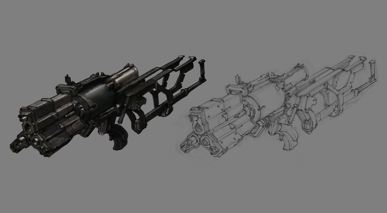 Dead Space 3 Rifle Dead Space Weapons