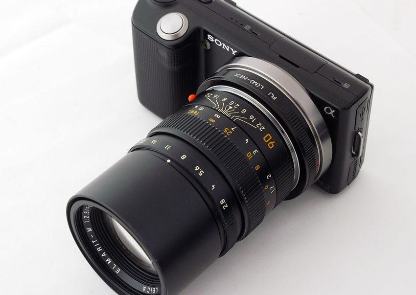 sony alpha nex cameras and e mount lenses leica elmarit m 90mm on sony nex 5. Black Bedroom Furniture Sets. Home Design Ideas