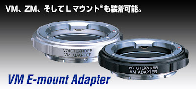 sony nex e-mount cosina voigtlander leica adapter vm