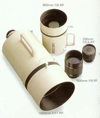 minolta md reflex lenses 1600 800 500 250