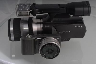 sony nex-5 nex-vg10 camera system camcorder