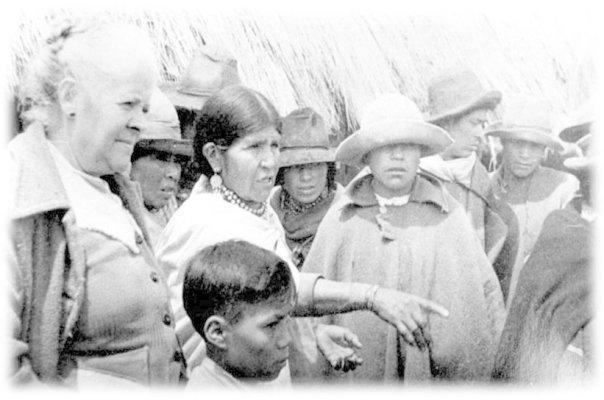 Dolores Cacuanngo y María Luisa Gomez (primeras escuelas indígenas en Cayambe)