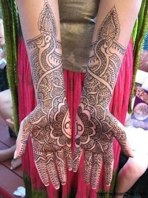 latest Arabic mehndi patterns pictures