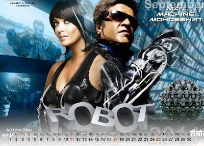 Endhiran Robot Movie Desktop Calendar 2011