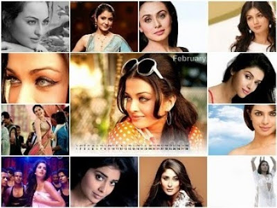 Bollywood Desktop Calendar 2011