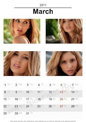 Shay Lauren Desktop Calendar 2011