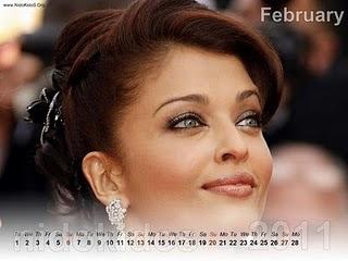 Aishwarya Rai Desktop Calendar 2011
