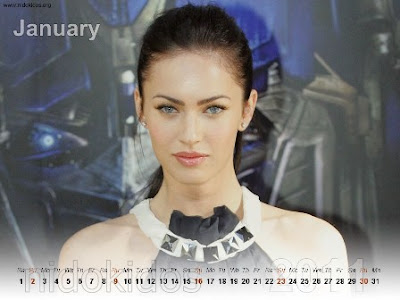 Megan Fox Desktop Calendar 2011: Free New Year 2011 Calendar, ...