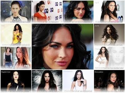 Free New Year 2011 Calendar, Megan Fox Desktop Wallpapers,