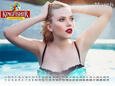 Hot Girls Desktop Calendar 2011
