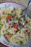 Bow Tie Pasta with Ham and Asparagus