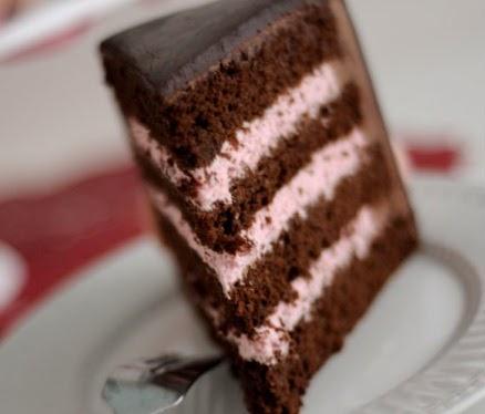 Carolynn S Recipe Box Chocolate Cake With Strawberry