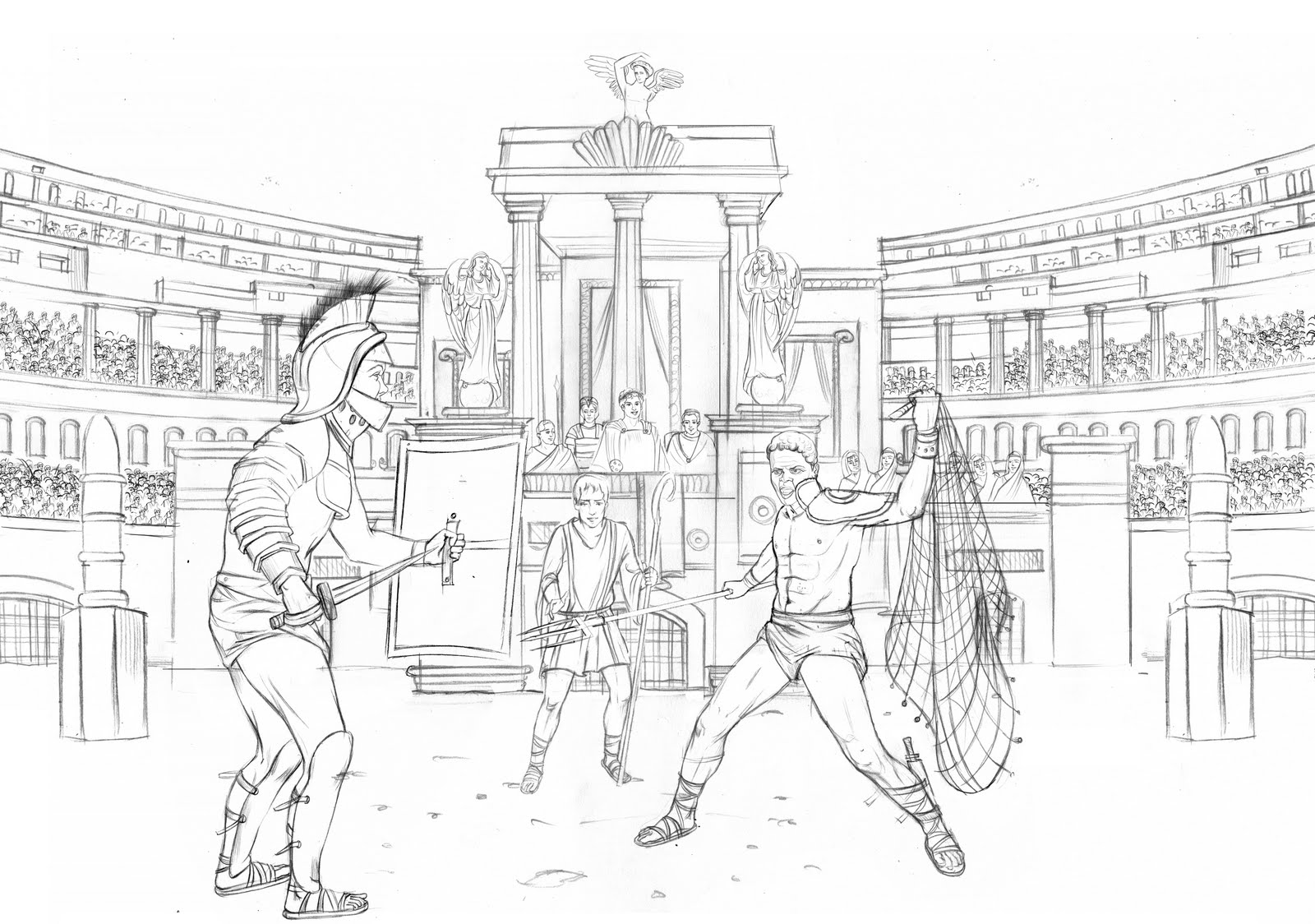 Gladiator Drawing Posted by sohom at 1:36 am no