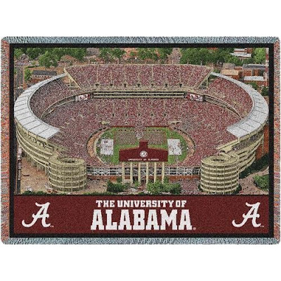 University of Alabama Bryant Denny football stadium blanket.