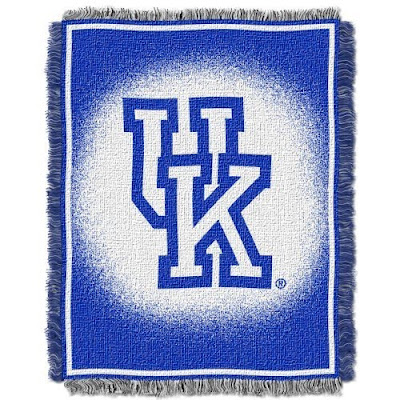 UK Wildcats blue and white blanket.