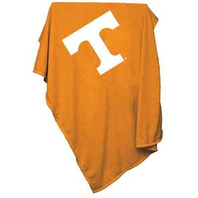 Orange Tennessee Volunteers sweatshirt blanket.