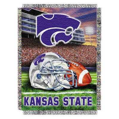 Kansas State Wildcats football blanket.