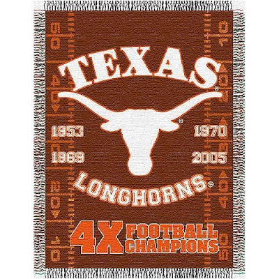 University of Texas national championship football blanket.