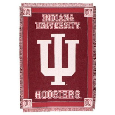Red Indiana University Hoosiers blanket.