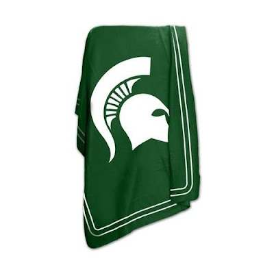 Green Michigan State University (MSU) Spartans fleece.