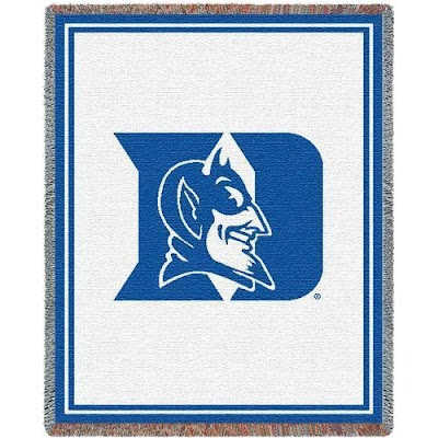 White Duke Blue Devils blanket.