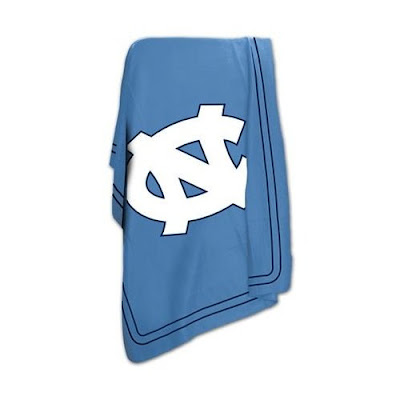 Tar Heels blue UNC fleece.