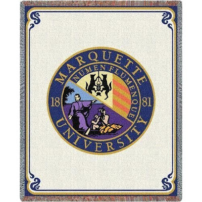 Marquette University throw blanket.