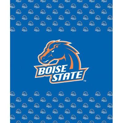 Blue Boise State University (BSU) Broncos fleece.