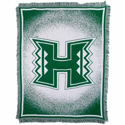 University of Hawaii Warriors throw blanket.
