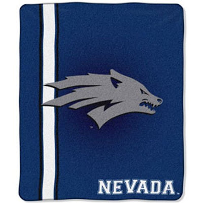 Blue Nevada Wolf Pack throw blanket.