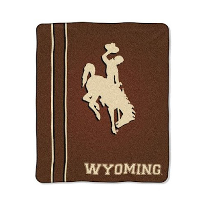 Brown Wyoming Cowboys throw.