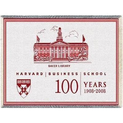 Harvard Business School (HBS) throw blanket.
