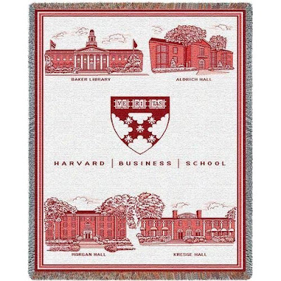 Harvard University Crimson fleece blanket.