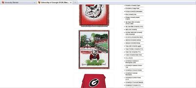Multiple University of Georgia Bulldogs blankets.