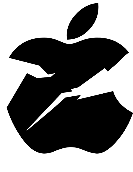 apple logo broken