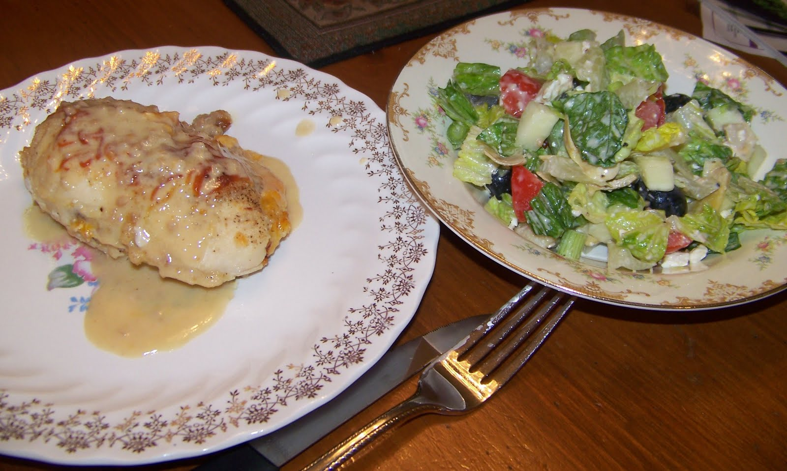 good as going to olive garden along with the greek salad i made with ...