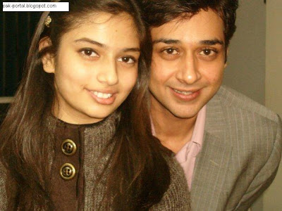 Shiraz Uppal with Wife Faisal Qureshi with Daughter Hanish