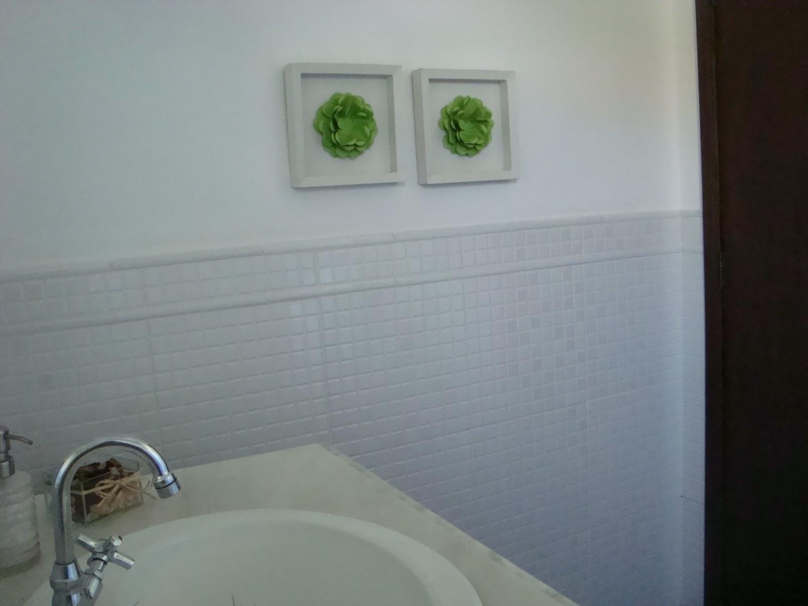 Fernanda Fernandes: Decorando banheiro #476431 1600x1200 Banheiro Azulejo Metade