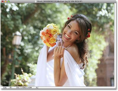 Ajustando imagem sem perder a qualidade Bride-smiling
