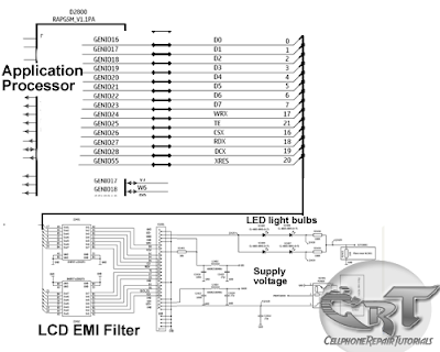 lcd display circuit schematic  diagram