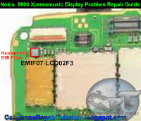 5800 Xpressmusic display problem repair guide
